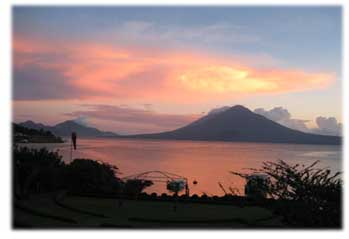 Lake Atitlan at night