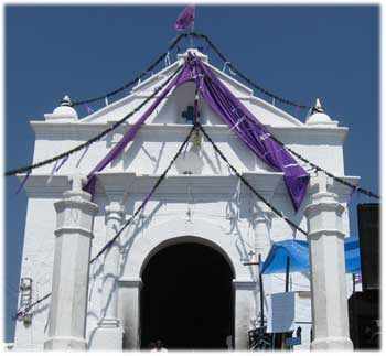 Holy Week church decorations